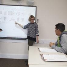 Kirsty teaching class