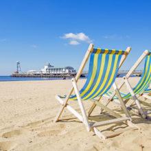 Deckchairs on Bournemouth beach