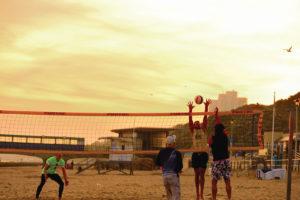 Sunset volleyball Bournemouth Beach